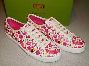 Women's Kate Spade New York Keds Kickstart KS Floral White Sneaker Shoe ~ Size 9