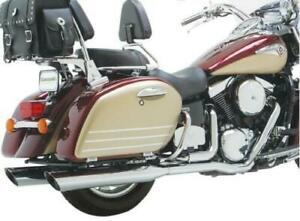 Vance & Hines Touring Duals Full Exhaust SystemChrome #18369 Kawasaki
