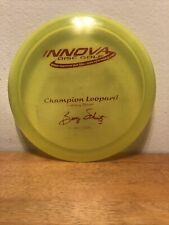 Rare Pfn Champion Innova Leopard 2X Barry Schultz Yellow Red Stamp 8/10 168g
