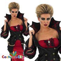 Womens Ladies Gothic Vampiress Vampire Halloween Fancy Dress Party Costume