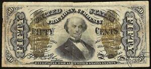 50 CENT FRACTIONAL CURRENCY UNITED STATES NOTE OLD PAPER MONEY SPINNER