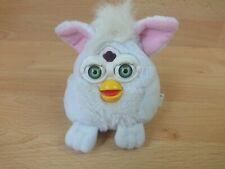 1999 Furby Buddies Snowball White Plush Bean Bag Tiger Electronics Green Eyes