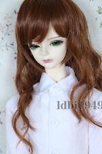 "1/3 8-9"" Bjd Wig Dal Pullip BJD SD LUTS MSD DOD DD Dollfie Doll Brown Curly wigs"