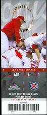 2012 Cardinals vs Cubs Ticket: Matt Holliday home run/Kyle Lohse win