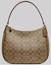 Coach F29209 Top Zip Shoulder  Bag In Signature Khaki / Saddle 2, Reg. $295