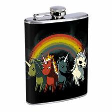 Apocalypse Unicorns Em1 Flask 8oz Stainless Steel Hip Drinking Whiskey