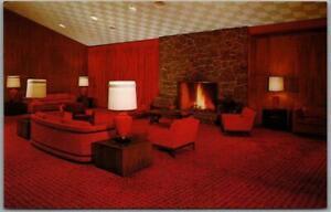 "Cheyenne, Wyoming Postcard ""Holding's LITTLE AMERICA"" Motel Lobby View Unused"