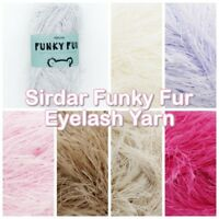 Sirdar Funky Fur Fashion DK Furry Soft Eyelash Knitting Wool Yarn 50g Ball
