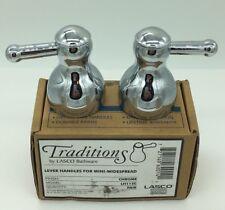 NEW LASCO BATHWARE LH112C LEVER HANDLES FOR Mini-Widespread Faucet CHROME