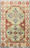 Geometric Oriental Super Kazak Traditional Hand-Knotted Area Rug Wool 2x3 Carpet