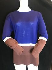 BNWT LACOSTE Ladies Beautifully Soft Pure Wool 70s Retro Jumper UK14 SAVE £70!