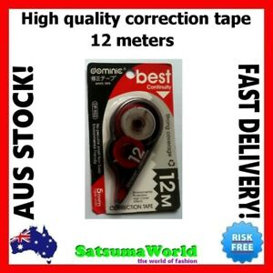 Correction Tape White Out Eraser 12m High Quality Roller Stationery Student