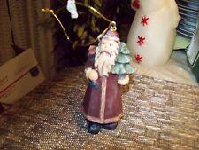 "20#2  Beautiful Christmas Decoration 4 1/4""  Santa Claus figurine Resin"