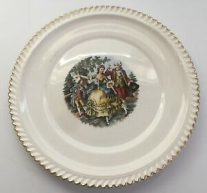 The Marker Pottery Co. Vintage Collectible Victorian Lovers Plate Since 1840