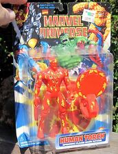 Vintage 1997 Fantastic 4 Marvel Universe FigureToyBiz Human Torch W Base MOC