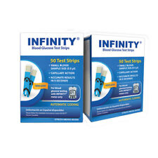 100 INFINITY Blood Glucose Test Strips (2 Boxes of 50)
