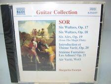 Fernando Sor GUITAR MUSIC Opp. 17-21, Margarita Escarpa-guitar, Naxos NEW