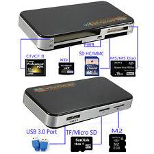 USB 3.0 Mini All-in-One 6-Slot Multi Memory Card Reader, CF,SD,MS,XD,TF,M2,SDHC