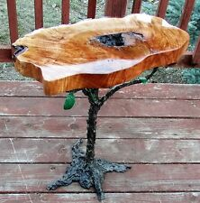 Nakashima Giacometti inspired end table Paul Evans burl wood live edge sculpted