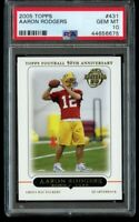 2005 Topps Aaron Rodgers Rookie PSA 10 Gem Mint #431 50th Anniversary RC