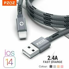 PZOZ Premium Fast Charge Lightning Cable, For iPhone 12,11,10,8,7,6,6s,5,s,iPad