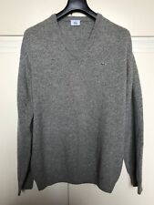 maglione uomo LACOSTE grigio lana taglia 6 maglia sweater men grey