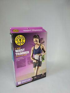 """Gold's Gym 8"""" WAIST TRIMMER Belt 50"""" Length Exercise Fat Burner Slimming"""