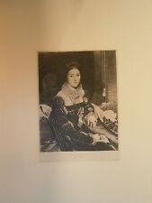 Planche gravure Portrait de Mme de Senonnes d'aprés Ingres Graveur A-F-J Patrico