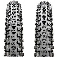 2 PAIR Maxxis Crossmark MTB Tyres. Black Mountain Bike Bicycle Tires 26 x 2.10""
