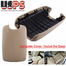 COMPLETE Armrest Cover for 08-12 Honda Accord Center Console Lid Tan W/ BASE