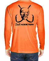 Salt Addiction t shirt microfiber performance poly fishing long sleeve 30+ UV