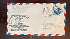 3/1/30 FF Cover Pilot Signed James Ray. 1927 National Air Races Bendix Precursor