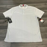 NIKE GOLF TIGER WOODS TW DRY VAPOR BLACK BLOCK WHITE SHIRT SIZE LARGE CT3799-100
