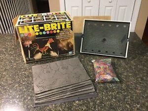 "Vintage ORIGINAL 1978 ""LITE BRITE"" Hasbro Toy Light Bright WORKING With Pegs"