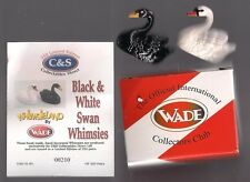 WADE SWANS BLACK AND WHITE  LE 250 W/ BOX AND CERT