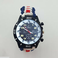 Paracord Watch with RAF 51 Squadron Colours a Great Gift