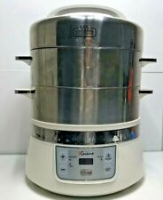 Euro Cuisine Stainless Steel Electric Food Steamer, Silver