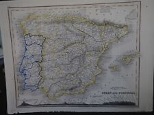 "Antique Map ""Spain and Portugal"""