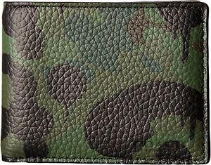 $275 Coach Mens Green Camo Billfold Bifold Leather 10 Cc Card Case Holder Wallet