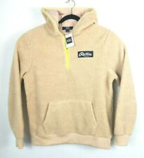 Young & Reckless Mens L 1/4 Zip Hoodie Fleece Tan