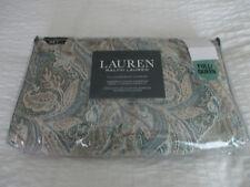 Ralph Lauren Duvet Cover Set Full/Queen Paisley Blue Green Beige White- NEW