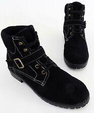Boots Hush Puppies Stiefeletten Schnürer Blockabsatz Echtleder schwarz Gr. 41