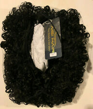 AISI HAIR Curly Afro Wig with Bangs Shoulder Length Wig Curly Black Wig Kinkys C