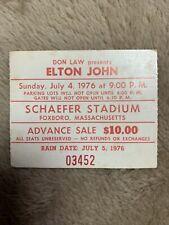 1976 Elton John Concert Ticket Stub - July 4, 1976 Foxboro, Massachusetts
