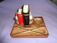 COLLECTIBLE SHIELDS OF AVENUE EITHER A DESK ACCESSORY OR A DRESSER CADDY