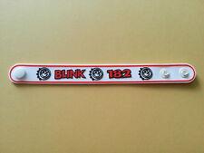 SILICONE RUBBER ROCK MUSIC FESTIVAL WRISTBAND/BRACELET:- BLINK 182 (b) WHITE