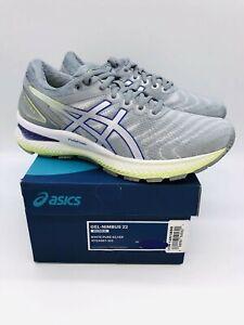 Asics Women's Nimbus Running Shoes White / Pure Silver - choose size