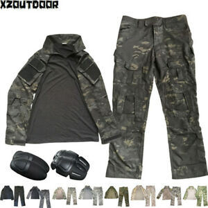 Men's Army Military Tactical Shirt Pants Airsoft Combat Uniform BDU Camo Sets