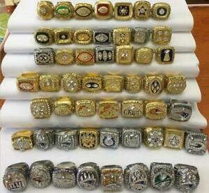 25pcs 1966 Packers to 2019 Patriots American Football Team Ring Set Fan Gift