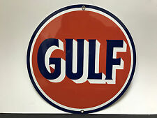 Gulf gasoline racing vintage sign